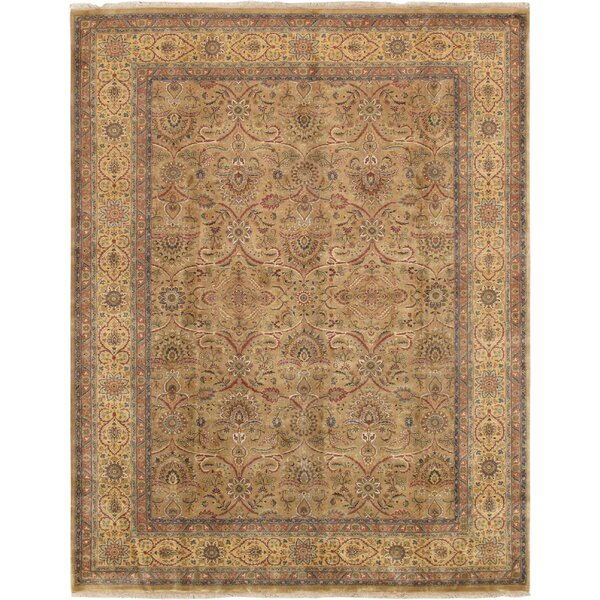 Tabriz Hand-Knotted Wool Camel Area Rug