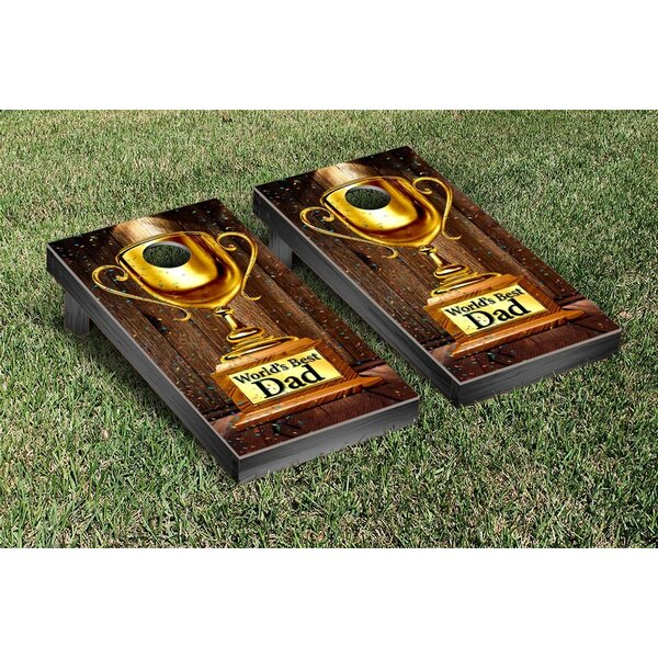 Worlds Best Dad Cornhole Game Set by Victory Tailgate