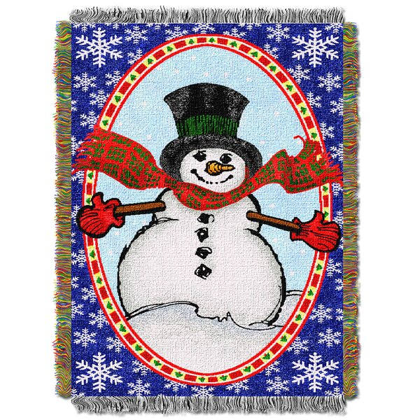 Bright Happy Snowman Throw by Northwest Co.