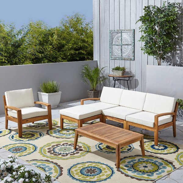 Rumph 6 Piece Sectional Seating Group with Cushions by Breakwater Bay