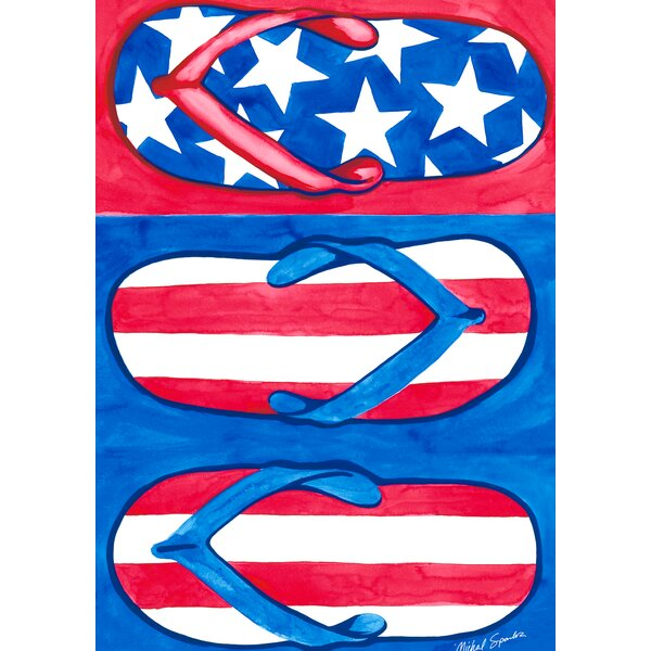 Patriotic Flips 2-Sided Garden flag by Toland Home Garden