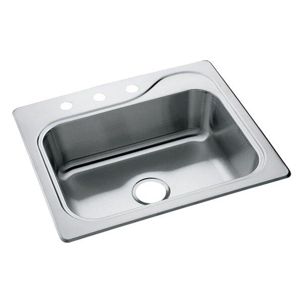 Southhaven 25 L x 22 W Self Rimming Single Bowl Kitchen Sink by Sterling by Kohler
