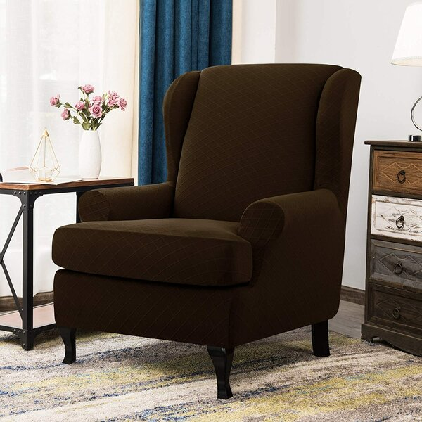 Urlfy T-Cushion Wingback Slipcover By Winston Porter