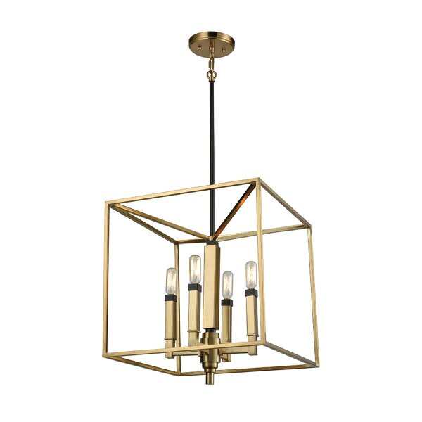Autumn 4-Light Square/Rectangle Chandelier by Langley Street