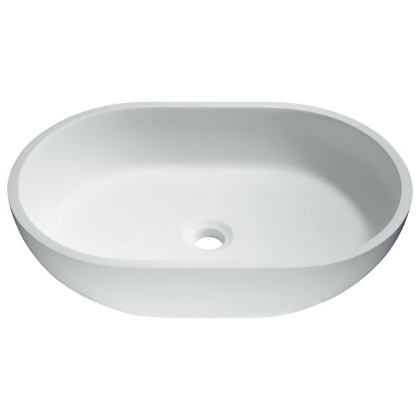 Idle Stone Oval Vessel Bathroom Sink by ANZZI
