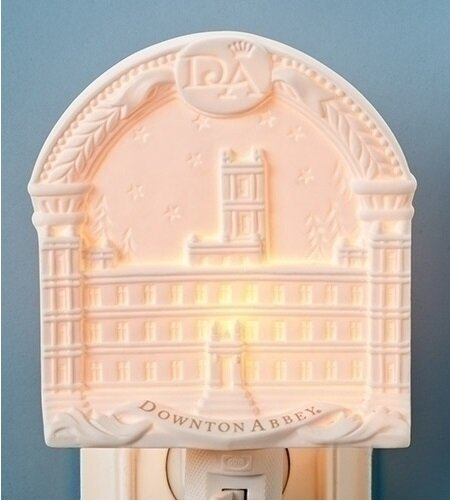Arched Downton Abbey Highclere Castle Bisque Porcelain Decorative Night Light by Northlight Seasonal