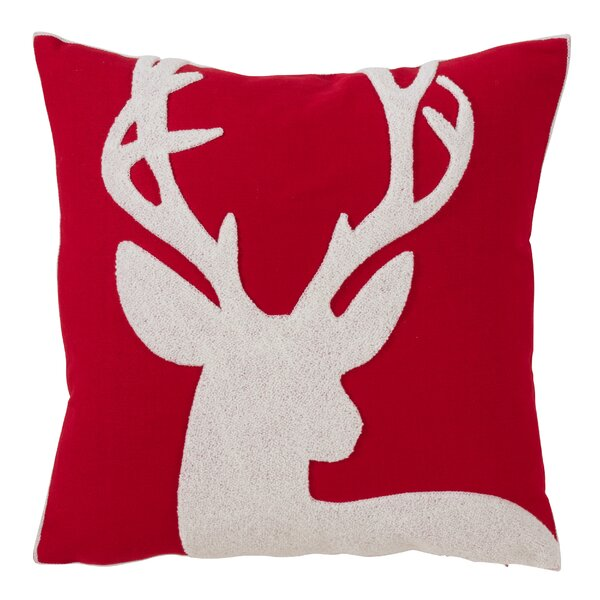 Tyrion Reindeer Design Throw Pillow by The Holiday Aisle