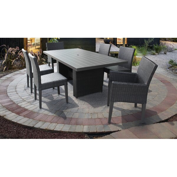 Belle 7 Piece Outdoor Patio Dining Set with Cushions by TK Classics