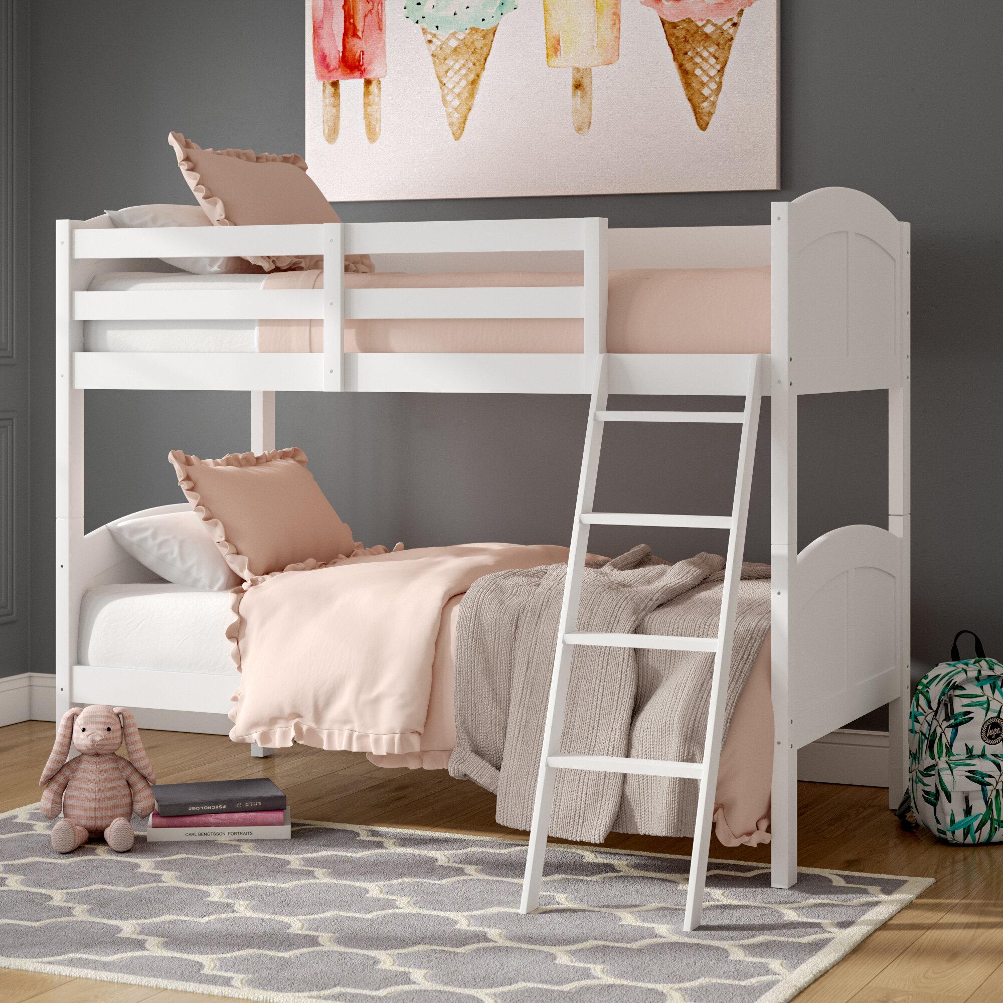 Viv Rae Romo Twin Over Twin Bunk Bed Reviews Wayfair