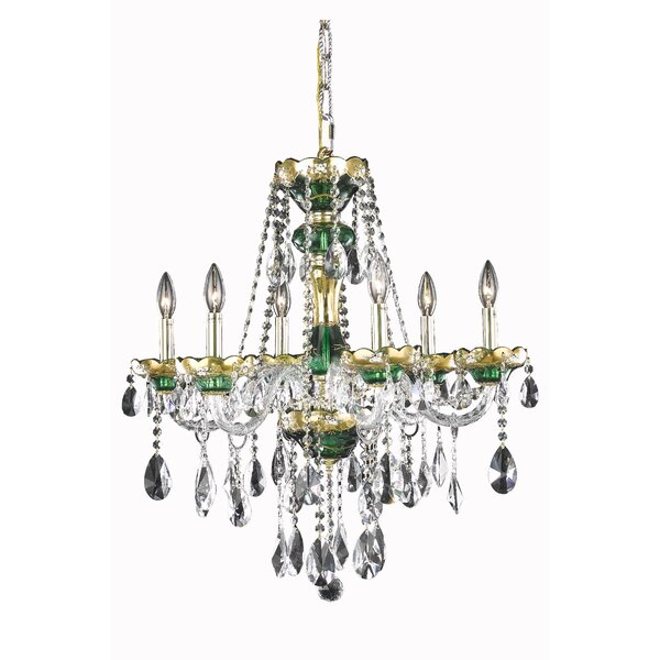 Schroeppel 6 - Light Candle Style Classic / Traditional Chandelier With Crystal Accents By Astoria Grand