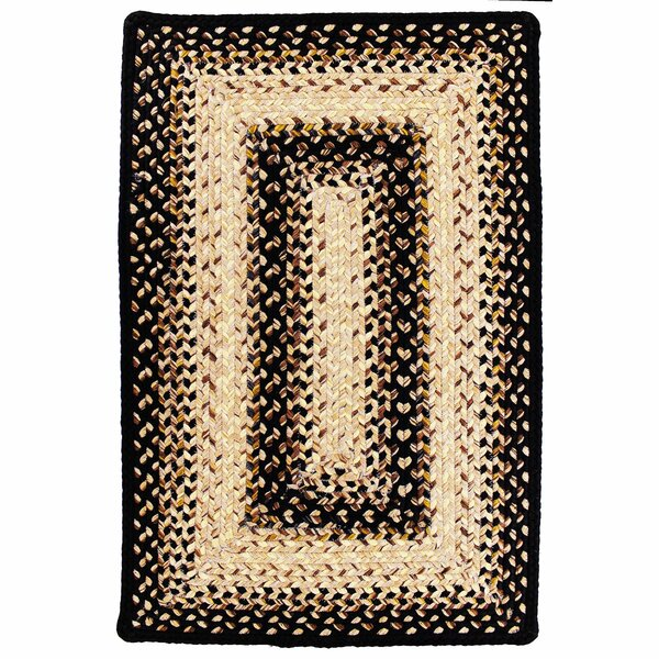 Ultra-Durable Black Mist Indoor/Outdoor Rug by Homespice Decor