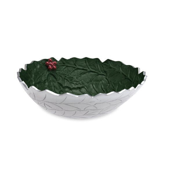 Holly Sprig 12 Decorative Bowl by Julia Knight Inc