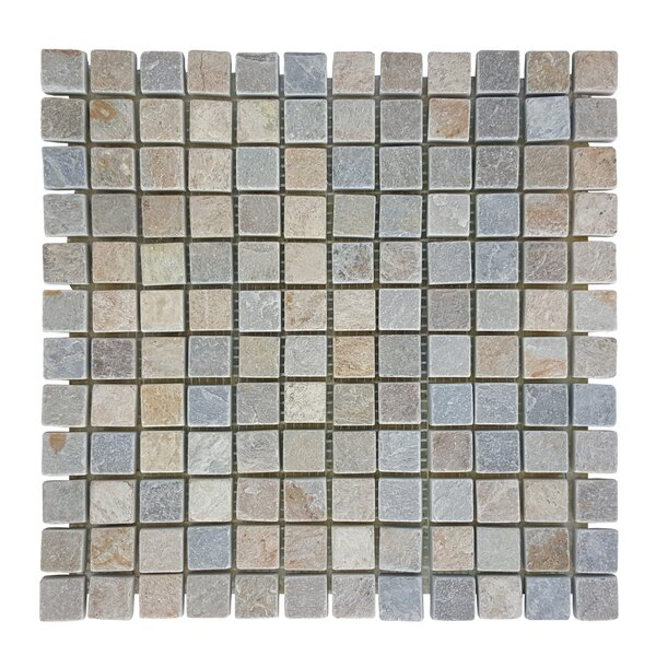 0.87 x 0.87 Stone Mosaic Tile in Atacama by Abolos