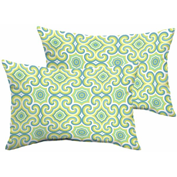 Zelda Indoor/Outdoor Lumbar Pillow (Set of 2) by Latitude Run