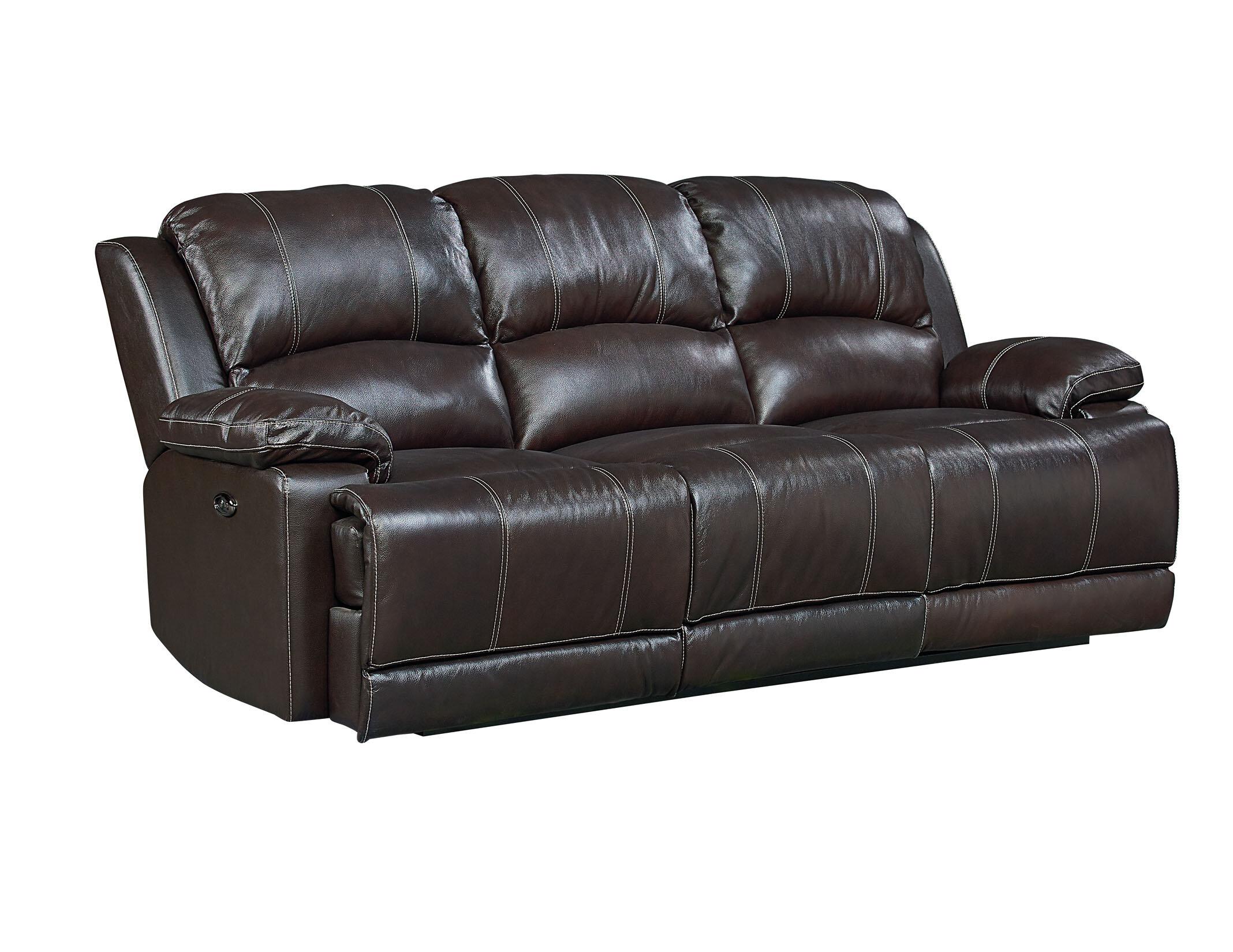 red barrel studio garlock leather reclining sofa reviews wayfair