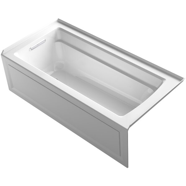 Archer Alcove VibrAcoustic Bath with Integral Apron, Tile Flange and Left-Hand Drain by Kohler