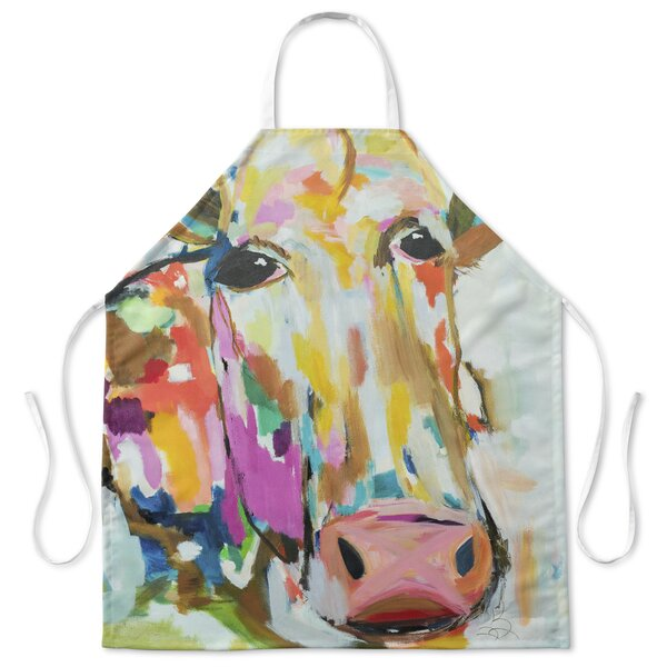 Modern Cow Apron by August Grove