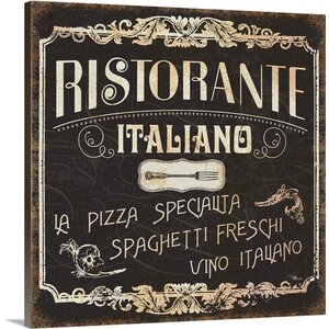 Italian Cuisine I Graphic Art on Wrapped Canvas by Great Big Canvas