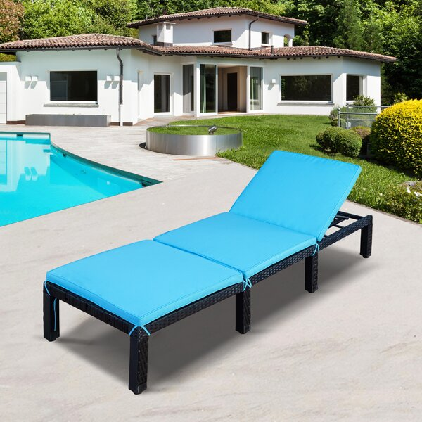 Abbotsun Reclining Chaise Lounge with Cushion