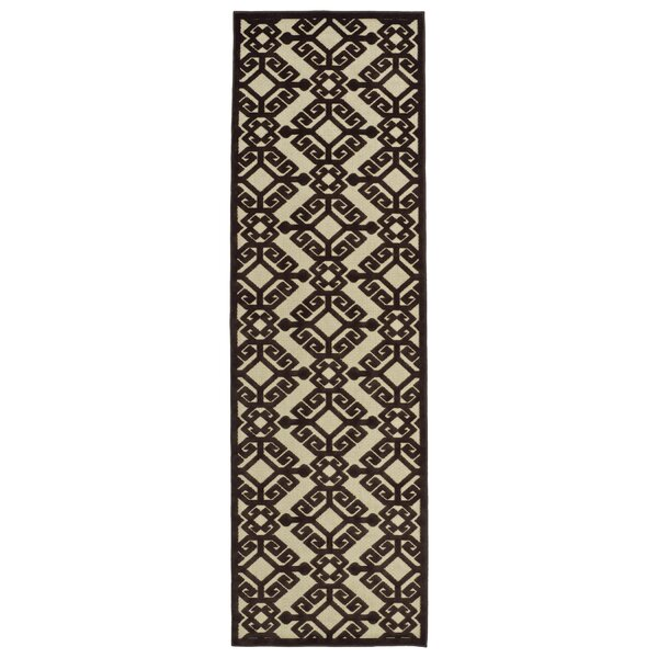Covedale Machine Woven Chocolate Indoor/Outdoor Area Rug by Charlton Home