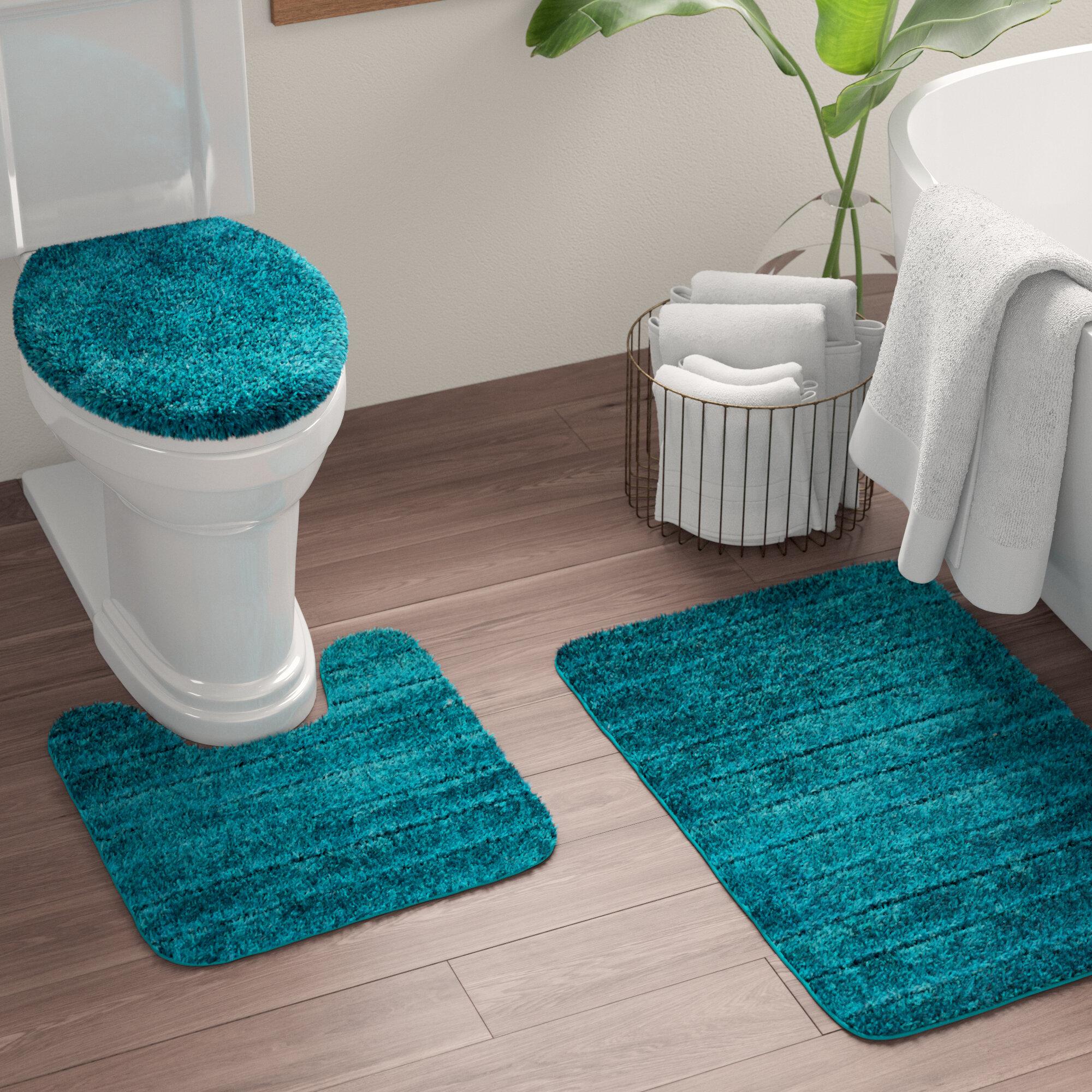 Turquoise Bathroom Set Bath Rugs Mats You Ll Love In 2020 Wayfair