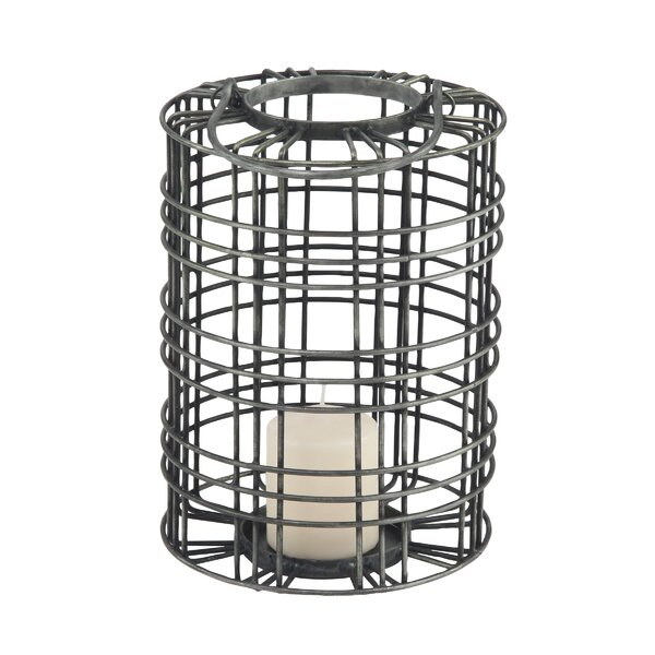 Osterley Cylindrical Metal Lantern by Gracie Oaks