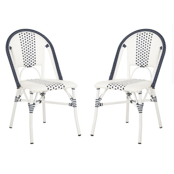 Clairlea Stacking Patio Dining Chair (Set of 2) by Beachcrest Home