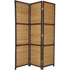 70.75 x 53 Woven Accent 3 Panel Room Divider by Oriental Furniture