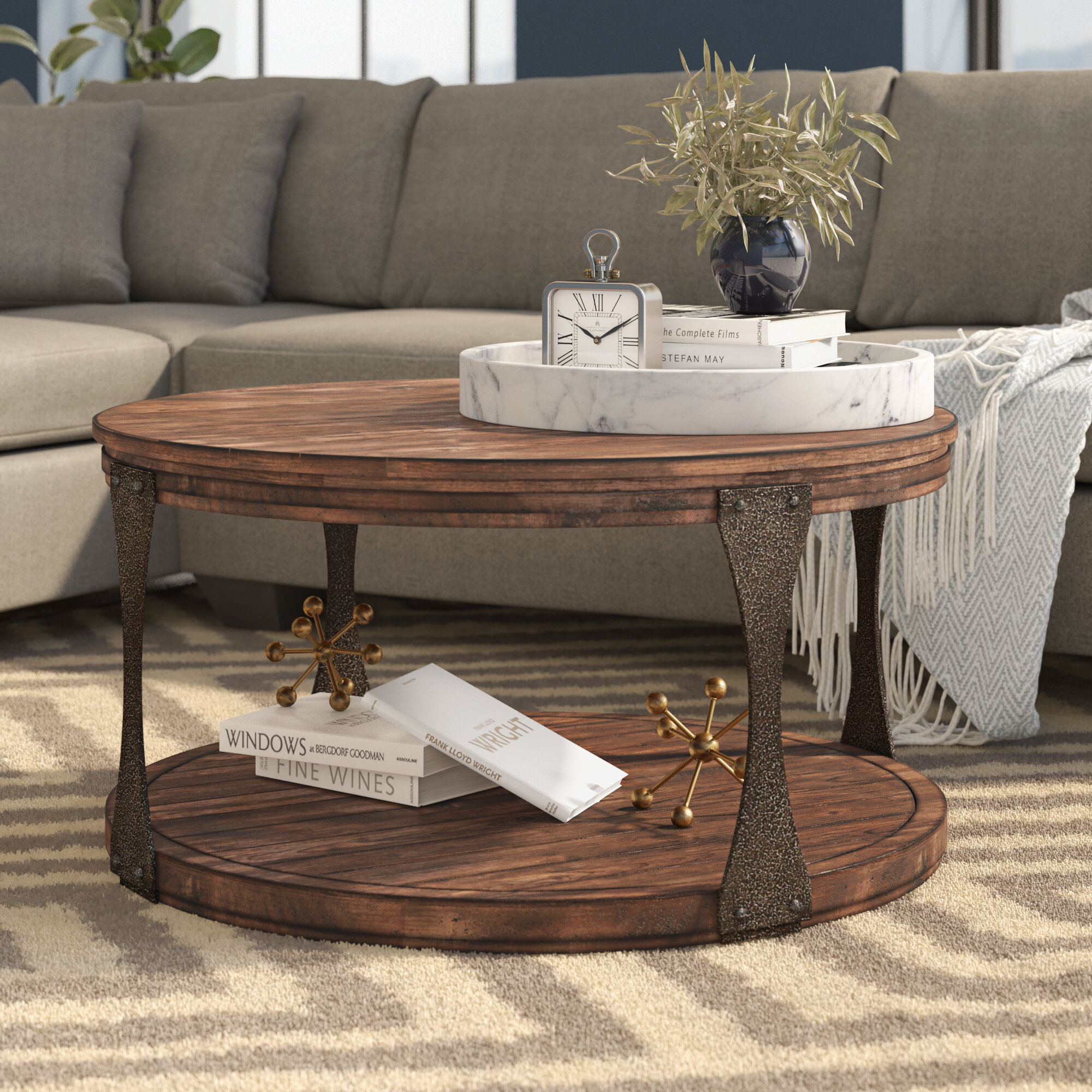 17 Stories Aradhya Coffee Table with Casters & Reviews