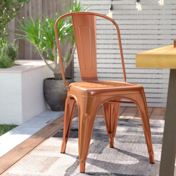 Rountree Stacking Patio Dining Chair by Wrought St