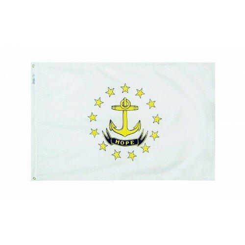 Rhode Island Glo Traditional Flag by NeoPlex