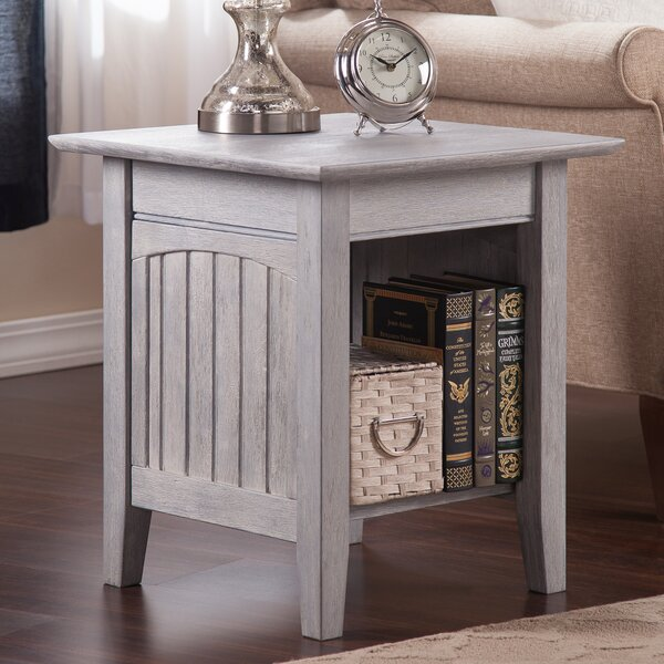 Glenni Solid Wood End Table With Storage By Highland Dunes