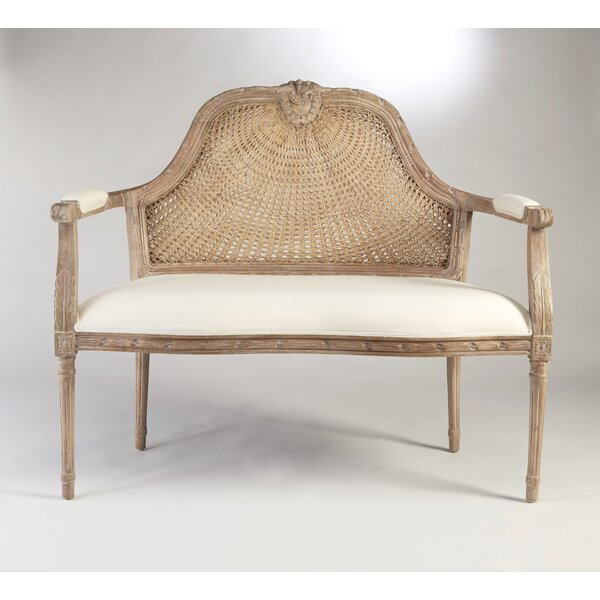 Moyne Cane Back Settee by World Menagerie