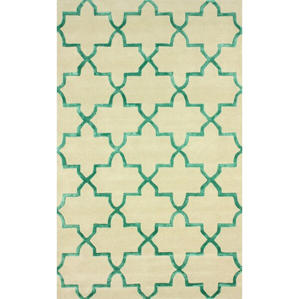 Goodwin Beige/Green Camila Area Rug by nuLOOM