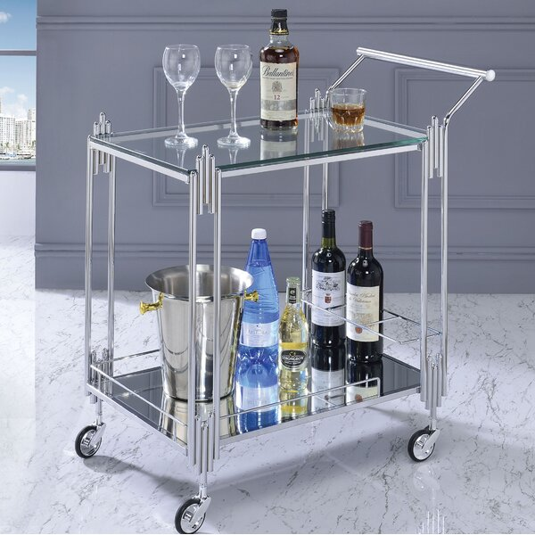 Burleson Bar Cart By Everly Quinn Discount