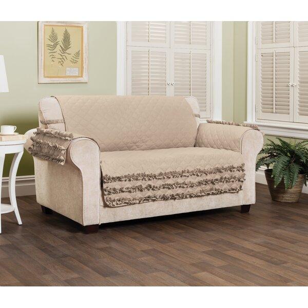 Ruffled Box Cushion Loveseat Slipcover By House Of Hampton