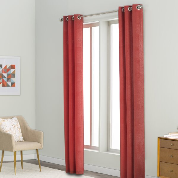 Margaret Solid Semi-Sheer Grommet Curtain Panels (Set of 2) by Langley Street