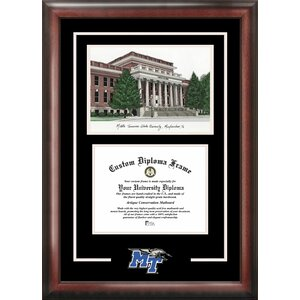 NCAA Spirit Graduate with Campus Image Picture Frame