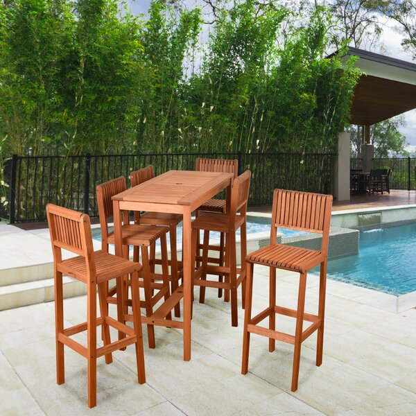 Kelleher 7 Piece Bar Height Dining Set by Rosecliff Heights