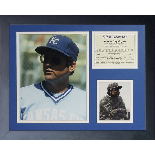 Dick Howser Framed Memorabilia by Legends Never Die