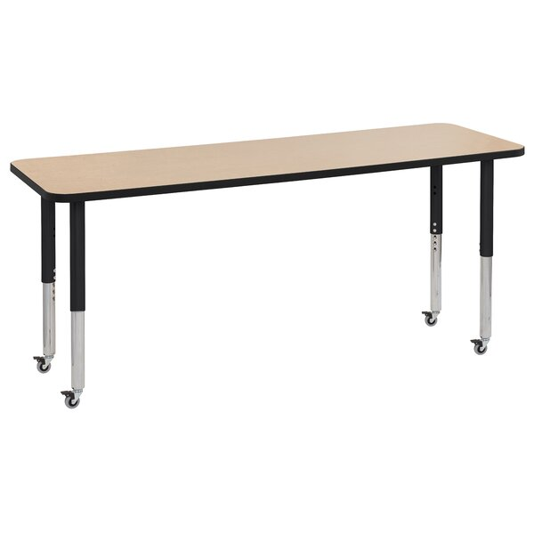 Maple Top Thermo-Fused Adjustable 24 x 72 Rectangular Activity Table by ECR4kids