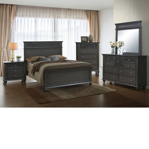 Friedrich Panel 4 Piece Bedroom Set by Charlton Home