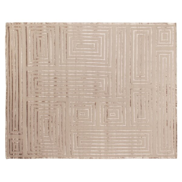 Metro Moreno Hand-Knotted Wool Beige Area Rug by Exquisite Rugs
