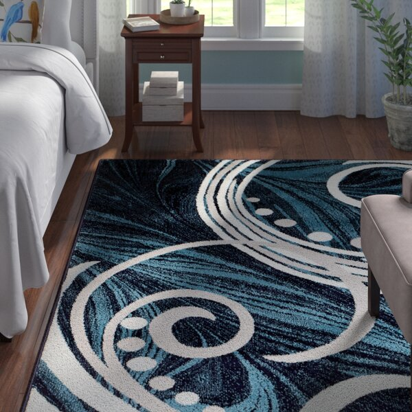 Frieda Blue Area Rug by Andover Mills