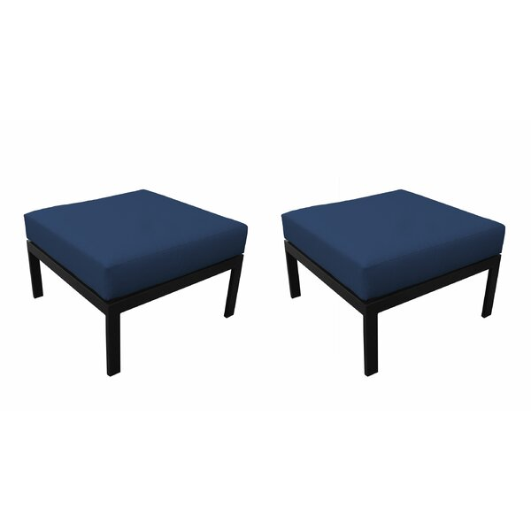 Madison Outdoor Ottoman with Cushion (Set of 2) by kathy ireland Homes & Gardens by TK Classics