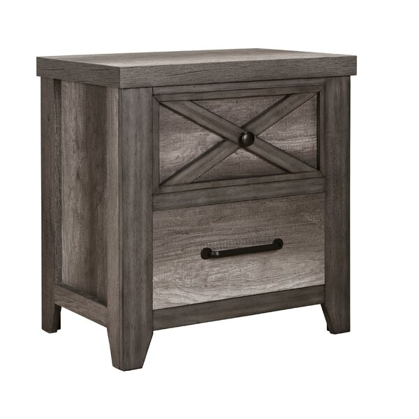 Muneeb 2 Drawer Nightstand by Gracie Oaks