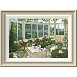 'Sunroom' by Diane Romanello Framed Painting Print by Global Gallery