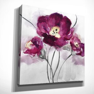 'My Magenta I' by Nan Painting Print on Wrapped Canvas by Wexford Home