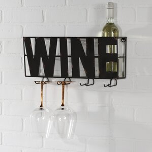 Doswell 4 Bottle Wall Mounted Wine Rack by Trent Austin Design