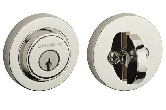 Contemporary Single Cylinder Deadbolt by Baldwin